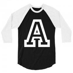A Initial Name 3/4 Sleeve Shirt | Artistshot