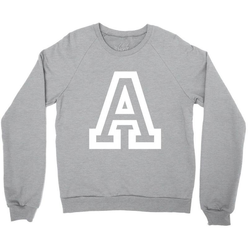A Initial Name Crewneck Sweatshirt   Artistshot