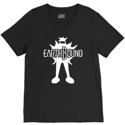Earthbound Starman V-neck Tee Designed By Printshirts