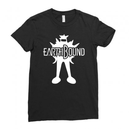 Earthbound Starman Ladies Fitted T-shirt Designed By Printshirts
