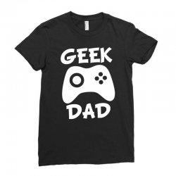 geek dad Ladies Fitted T-Shirt | Artistshot
