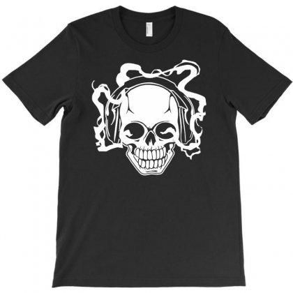 Electric Music Skull T-shirt Designed By Printshirts