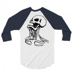 screaming skull 3/4 Sleeve Shirt | Artistshot