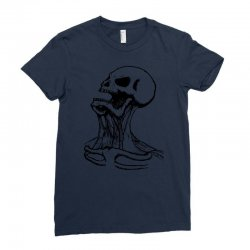 screaming skull Ladies Fitted T-Shirt | Artistshot