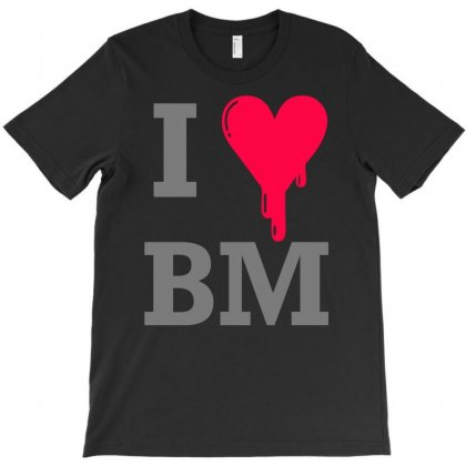 I Heart Bm For Women T-shirt Designed By Printshirts