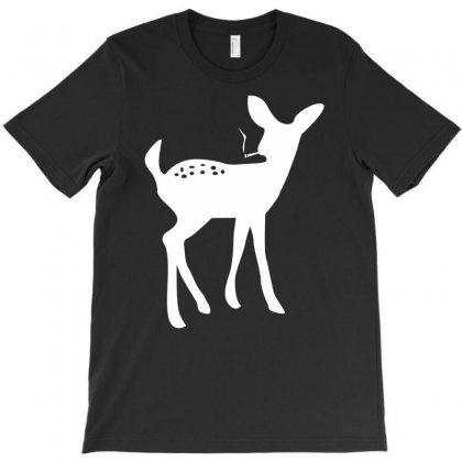 Smoking Fawn Deer T-shirt Designed By Printshirts