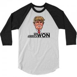 PRESIDENT TRUMP 3/4 Sleeve Shirt | Artistshot