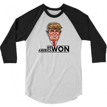 President Trump 3/4 Sleeve Shirt Designed By Designbycommodus