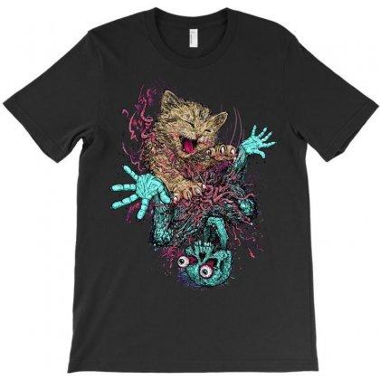 Zombie Nomz T-shirt Designed By Mdk Art