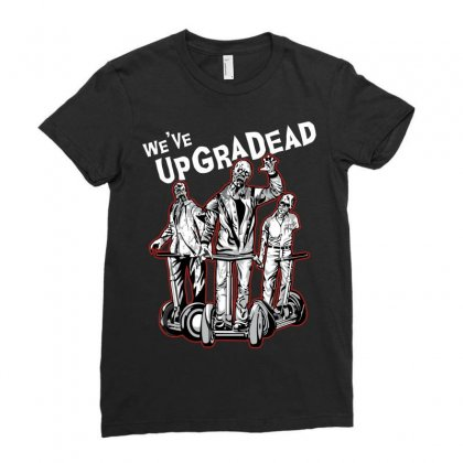 Upgradead Ladies Fitted T-shirt Designed By Mdk Art