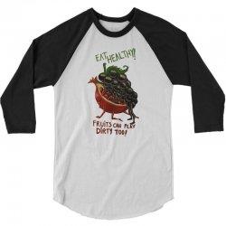eat fruits 3/4 Sleeve Shirt   Artistshot
