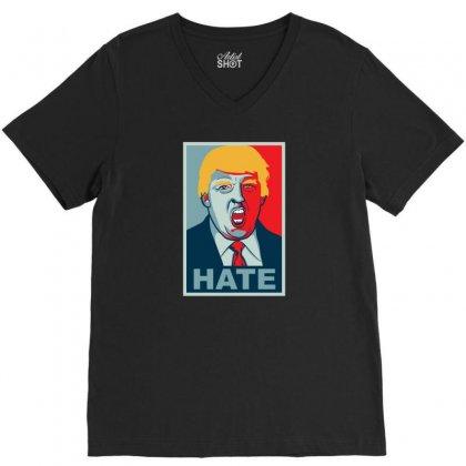 Hate V-neck Tee Designed By Kamen