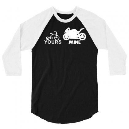 Your Bike My Bike 3/4 Sleeve Shirt Designed By Suarepep