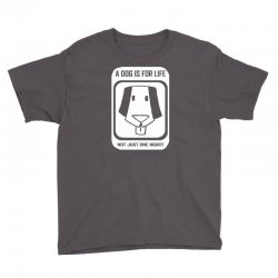 a dog is for life Youth Tee | Artistshot