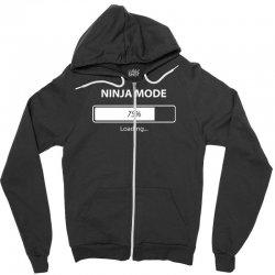 ninja mode loading Zipper Hoodie   Artistshot