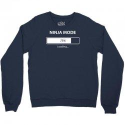 ninja mode loading Crewneck Sweatshirt   Artistshot