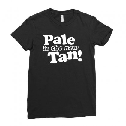 Pale Is The New Tan! Ladies Fitted T-shirt Designed By Tonyhaddearts