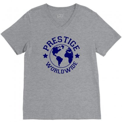 Prestige Worldwide V-neck Tee Designed By Tonyhaddearts