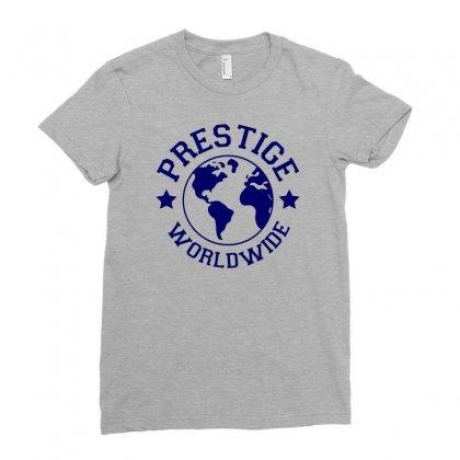 Prestige Worldwide Ladies Fitted T-shirt Designed By Tonyhaddearts