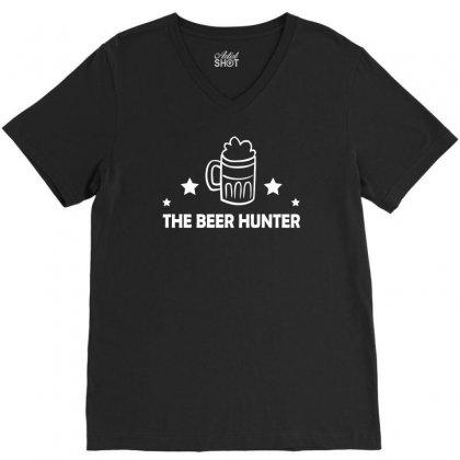 The Beer Hunter V-neck Tee Designed By Tonyhaddearts