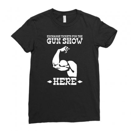 The Gun Show Ladies Fitted T-shirt Designed By Tonyhaddearts