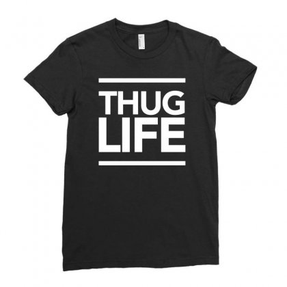 Thug Life Ladies Fitted T-shirt Designed By Tonyhaddearts