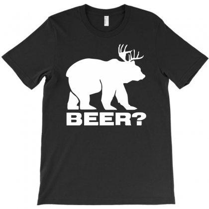 Beer Deer Bear Funny T-shirt Designed By Mdk Art