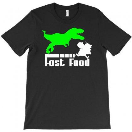 Dino Fast Food  Fun T-shirt Designed By Mdk Art