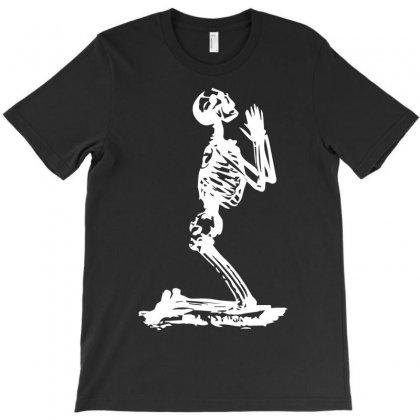 Funny Skeleton Prayer T-shirt Designed By Mdk Art