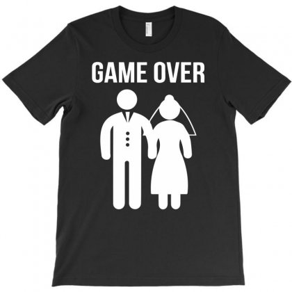 Game Over Funny T-shirt Designed By Mdk Art