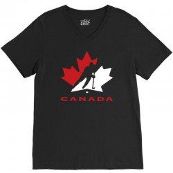 hockey canada V-Neck Tee | Artistshot