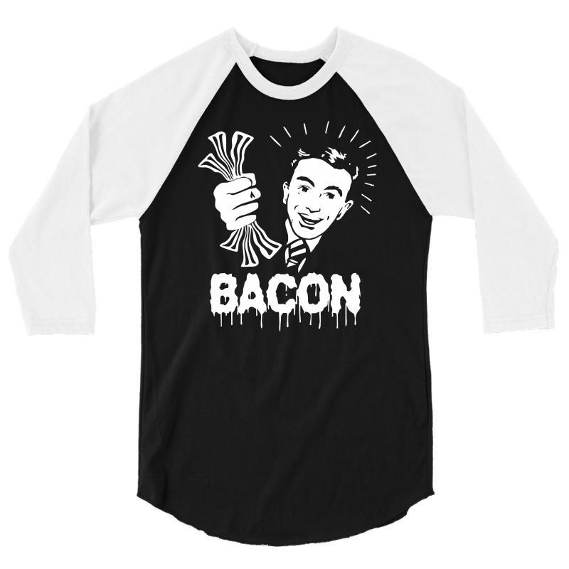 Love Bacont Fun Ny 3/4 Sleeve Shirt   Artistshot