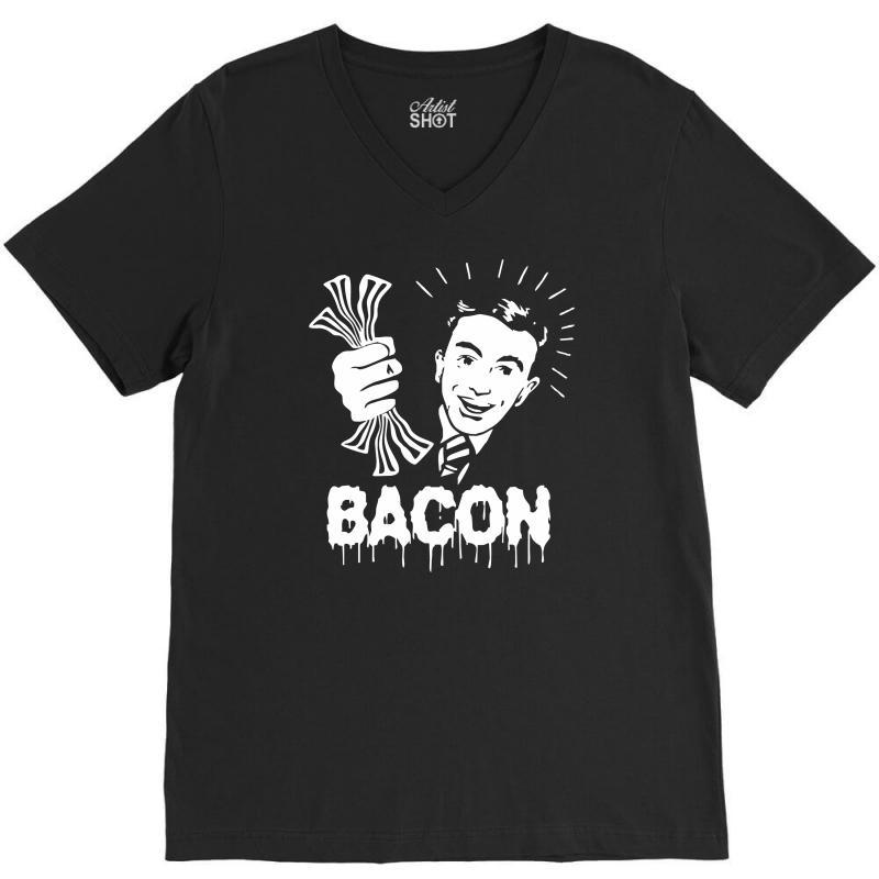 Love Bacont Fun Ny V-neck Tee   Artistshot