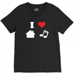 love house music funny V-Neck Tee | Artistshot