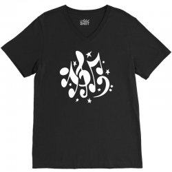 music notes V-Neck Tee | Artistshot