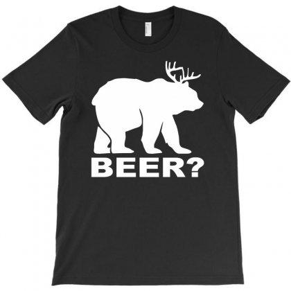New Bear Deer Beer Funny T-shirt Designed By Mdk Art