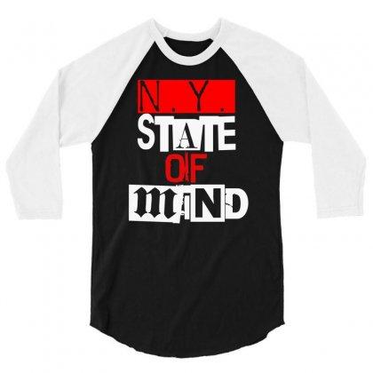 Ny State Of Mind 3/4 Sleeve Shirt Designed By Mdk Art
