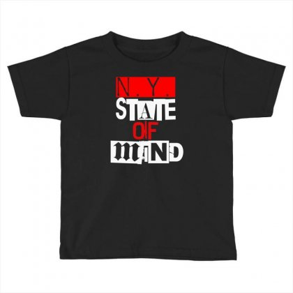 Ny State Of Mind Toddler T-shirt Designed By Mdk Art