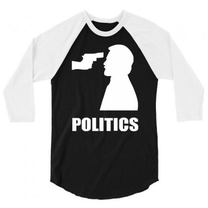 Politics 3/4 Sleeve Shirt Designed By Mdk Art