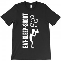 eat sleep shoot T-Shirt | Artistshot