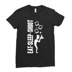 eat sleep shoot Ladies Fitted T-Shirt | Artistshot