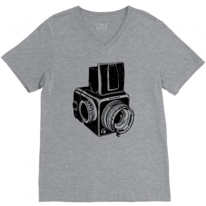 Hasselblad Vintage Camera V-neck Tee Designed By Tonyhaddearts