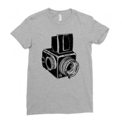 Hasselblad Vintage Camera Ladies Fitted T-shirt Designed By Tonyhaddearts