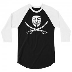 mask of modern mutiny 3/4 Sleeve Shirt   Artistshot