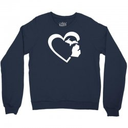 michigan heart love Crewneck Sweatshirt | Artistshot