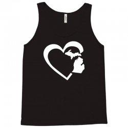 michigan heart love Tank Top | Artistshot
