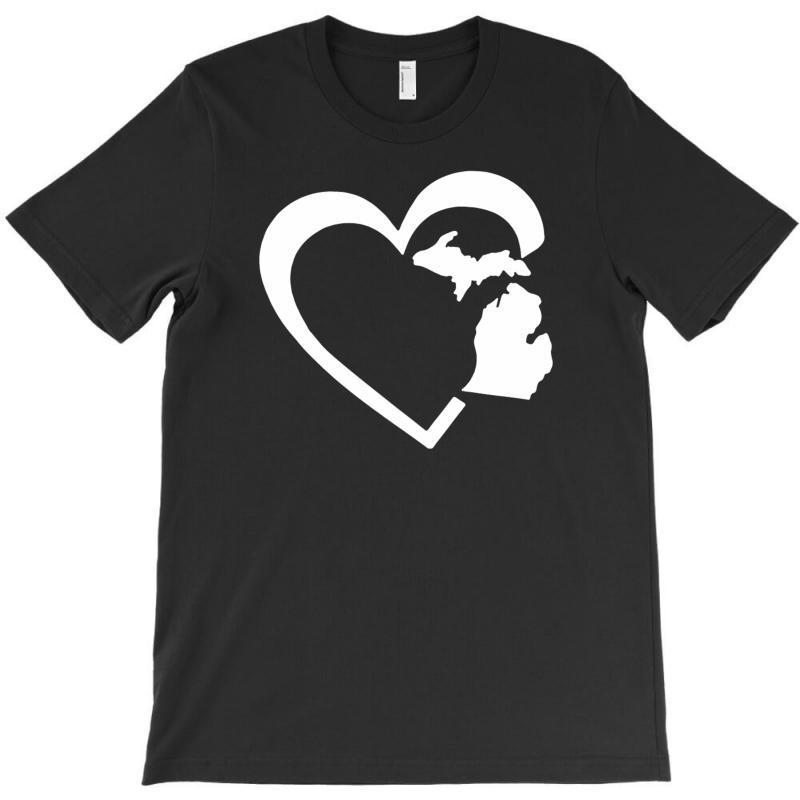 Michigan Heart Love T-shirt | Artistshot