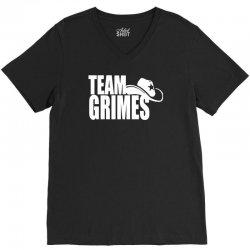 team grimes walking dead V-Neck Tee | Artistshot