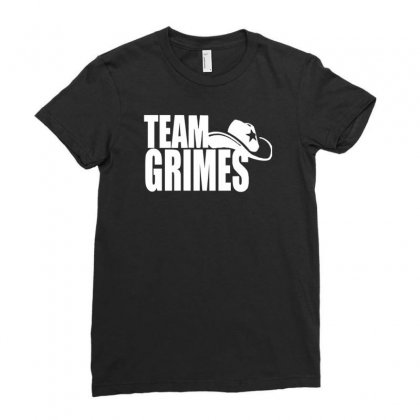 Team Grimes Walking Dead Ladies Fitted T-shirt Designed By Tonyhaddearts