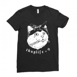 thug cat Ladies Fitted T-Shirt | Artistshot